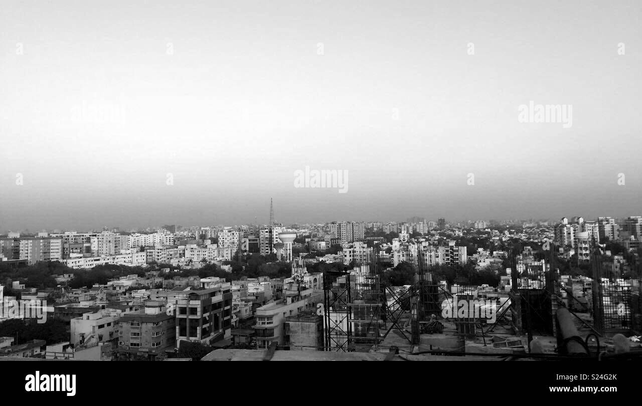 Ahmedabad from height - Stock Image