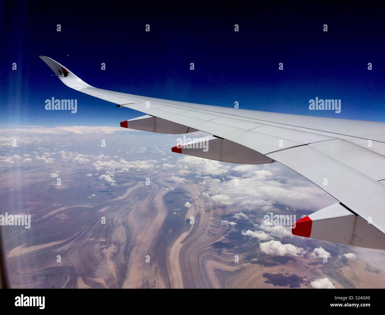 Wing and Desert - Stock Image