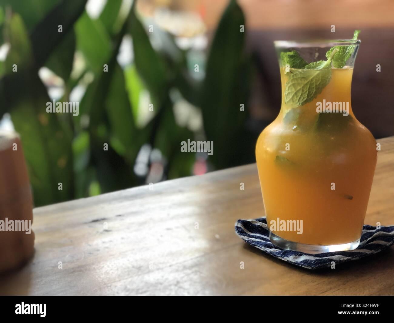 Gourmet orange juice in Bali - Stock Image