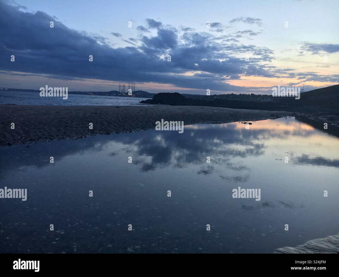Reflection on river Tay - Stock Image