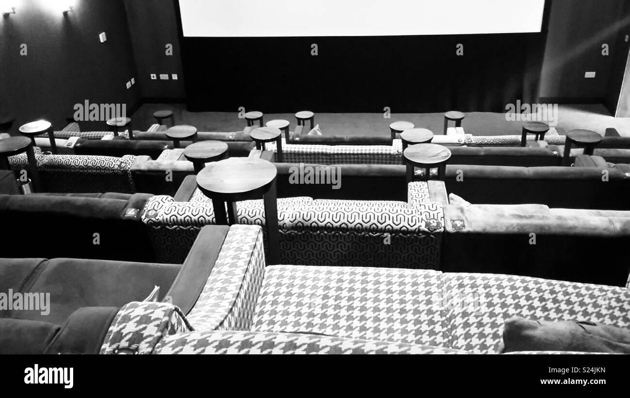 Ilkley cinema, europe's smallest 4k cinema - Stock Image