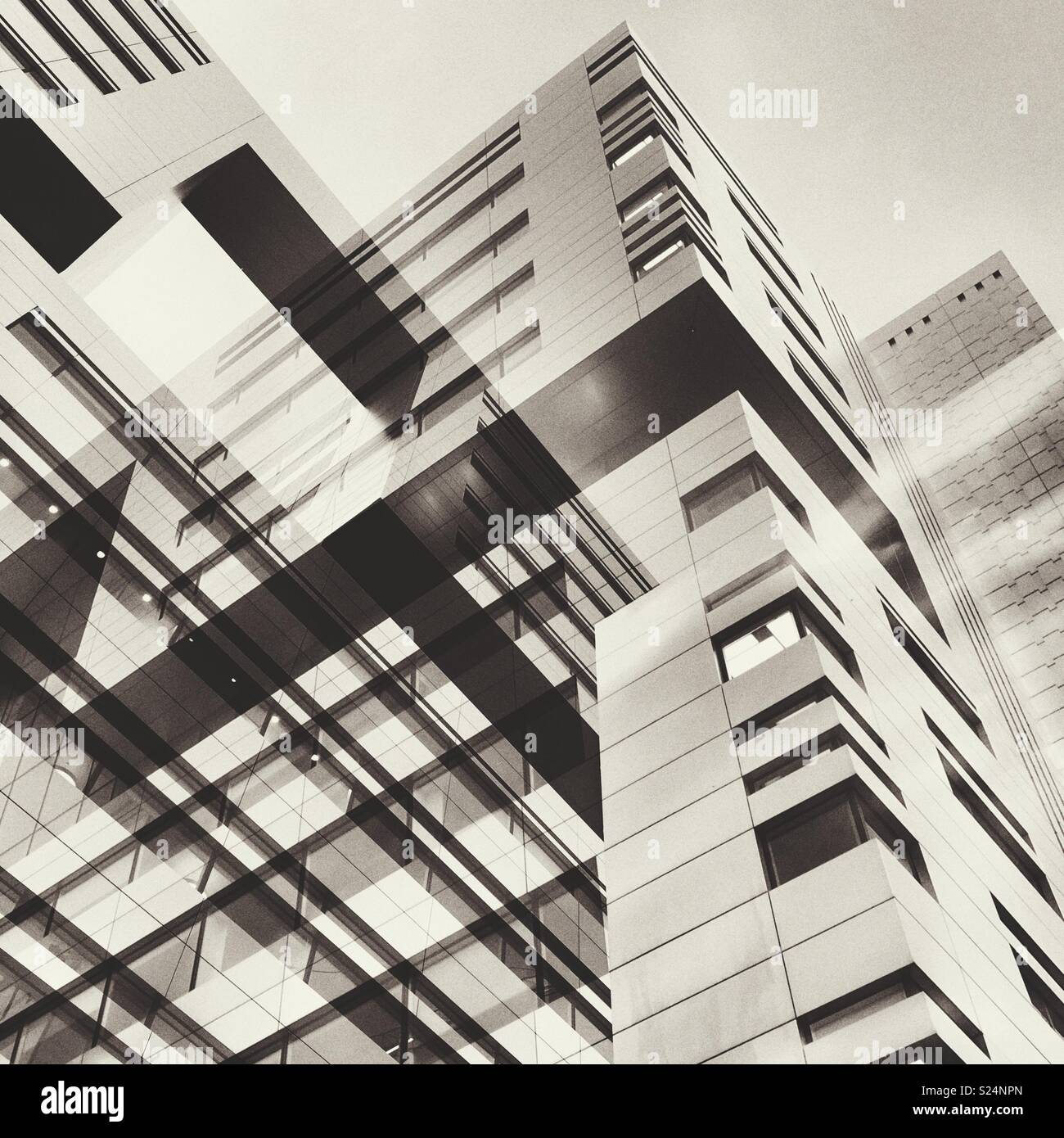 Abstract of city buildings - Stock Image