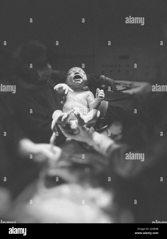 Birth photoshoot - Stock Image