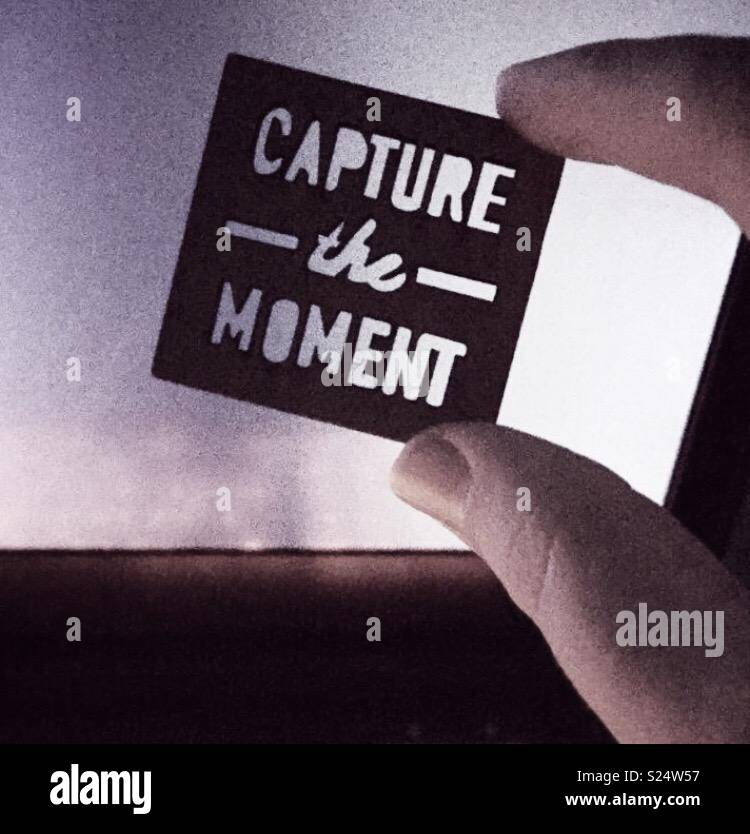 Capture the moment - Stock Image