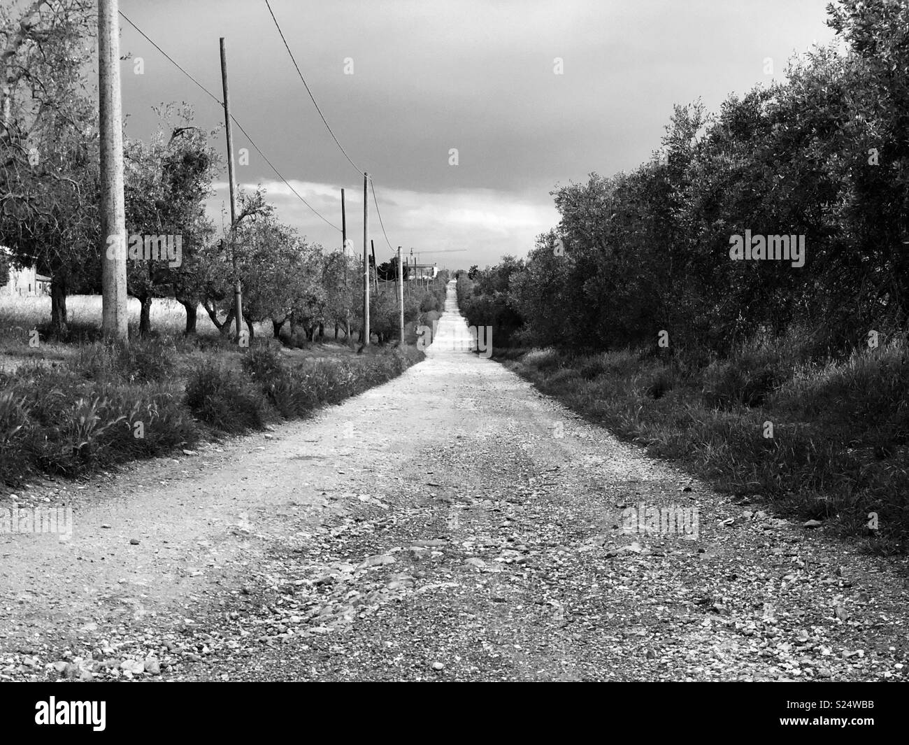 A simile country road. - Stock Image