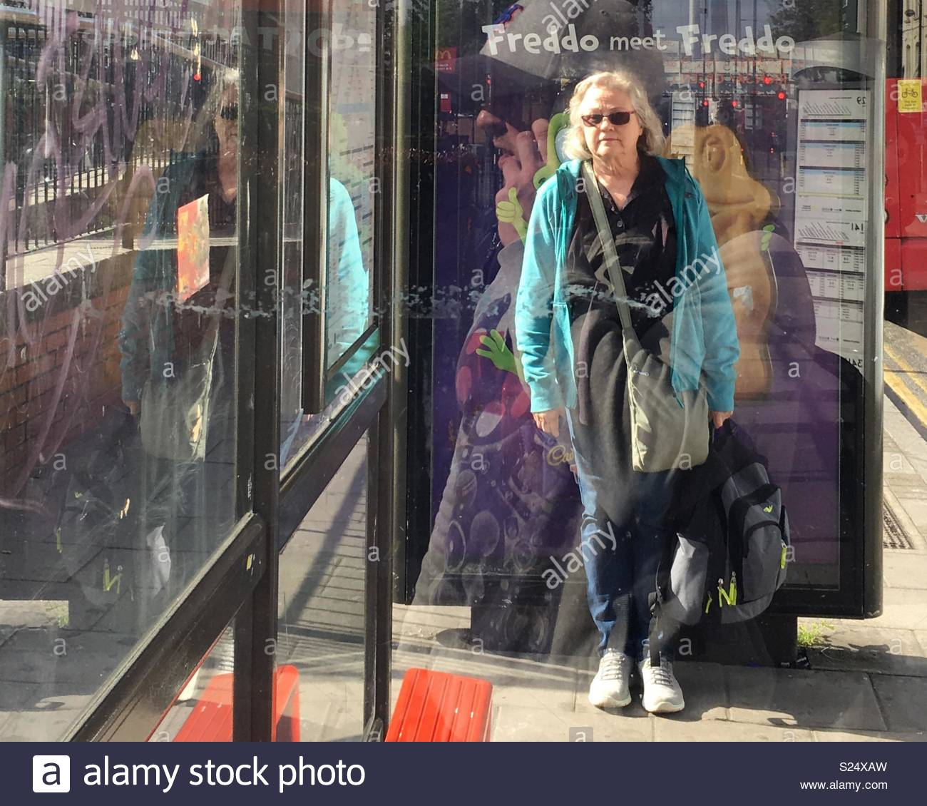 Waiting in the sun - Stock Image