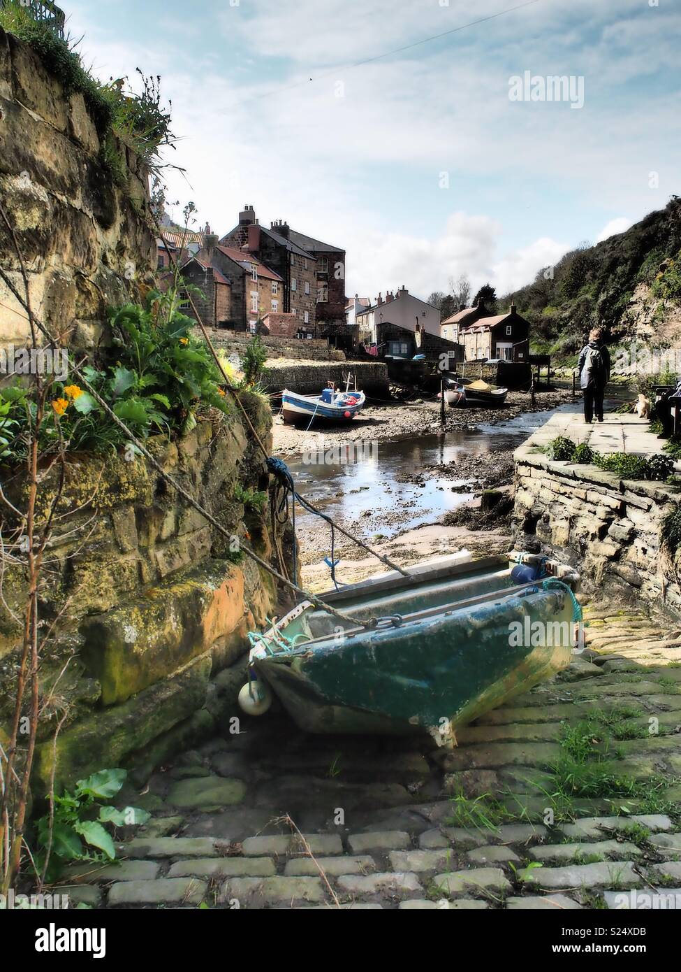 Staithes May 2018 - Stock Image