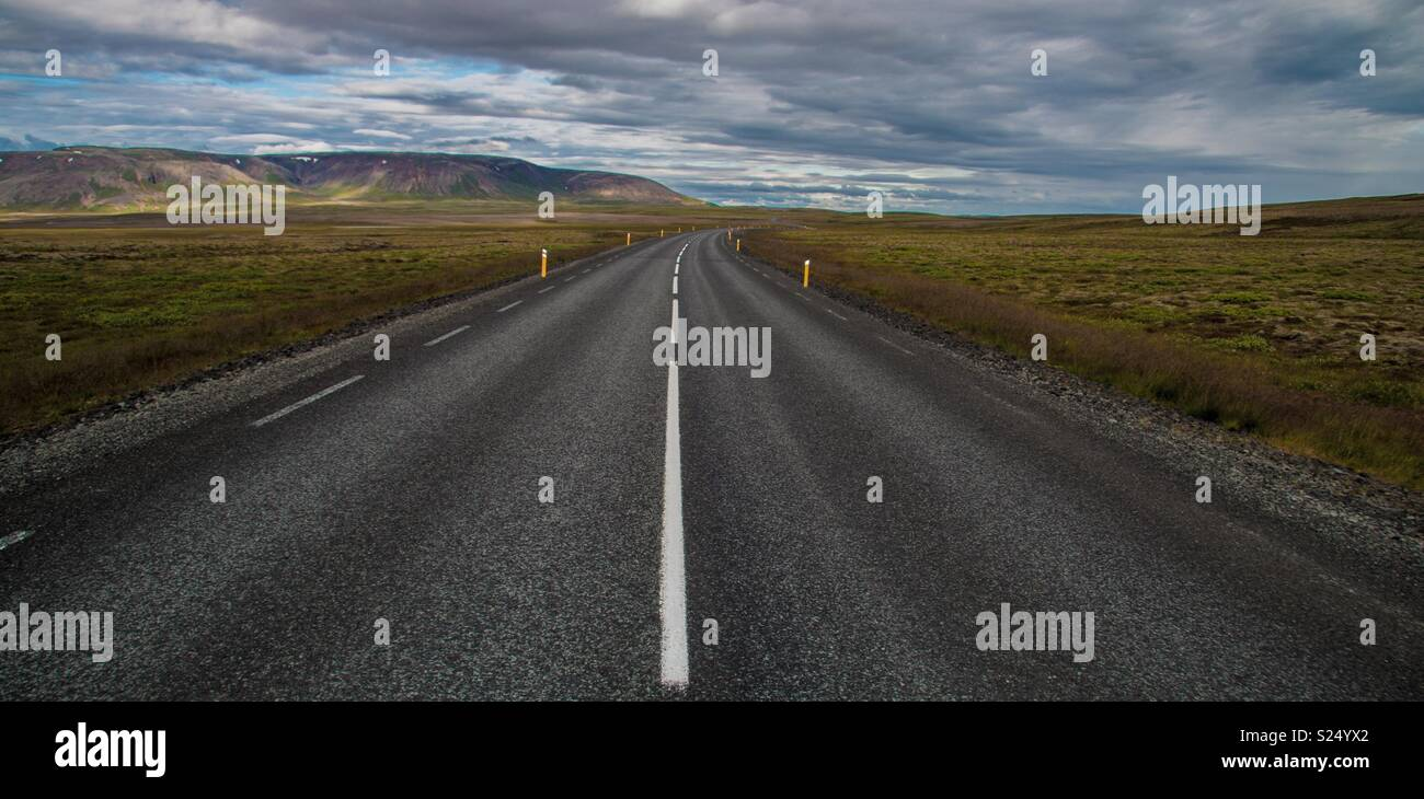 Iceland Vanishing Point - Stock Image
