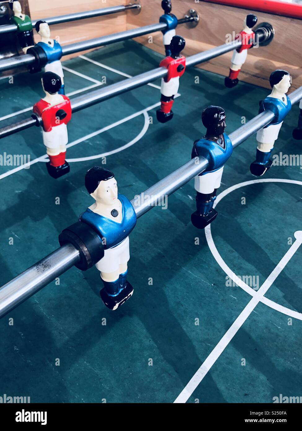 Table football footballer characters - Stock Image