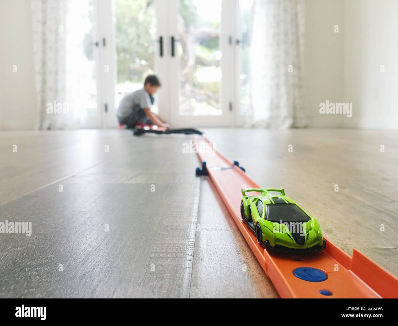 Saturday at home - Stock Image