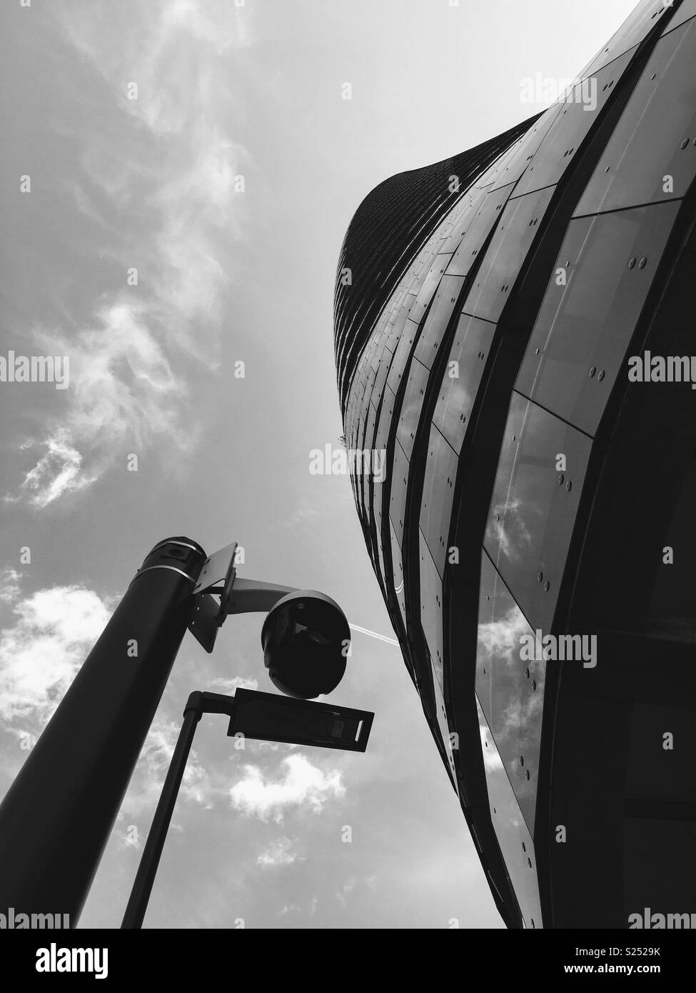 Skyrocketing Modern Design Building of Luxury Flats near Harbour Exchange Square in London E14 - Stock Image