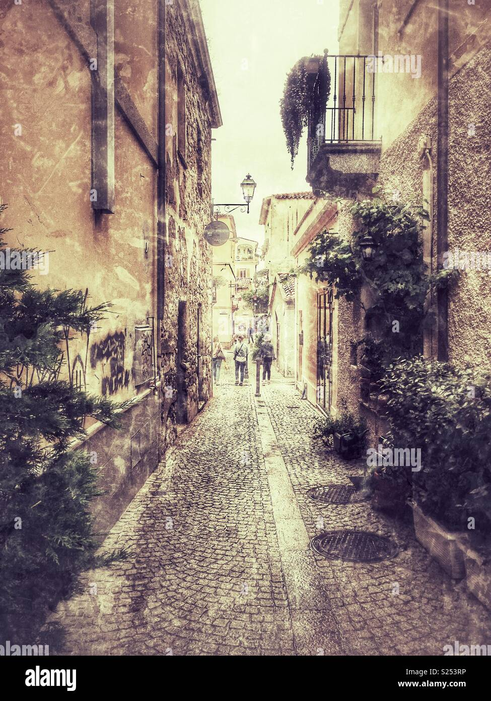 City centre in Olbia, Sardinia - Stock Image