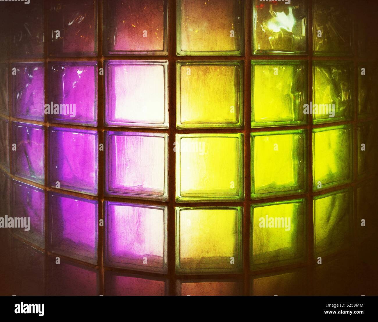 Glass Block Wall Blocks Stock Photos & Glass Block Wall Blocks Stock ...