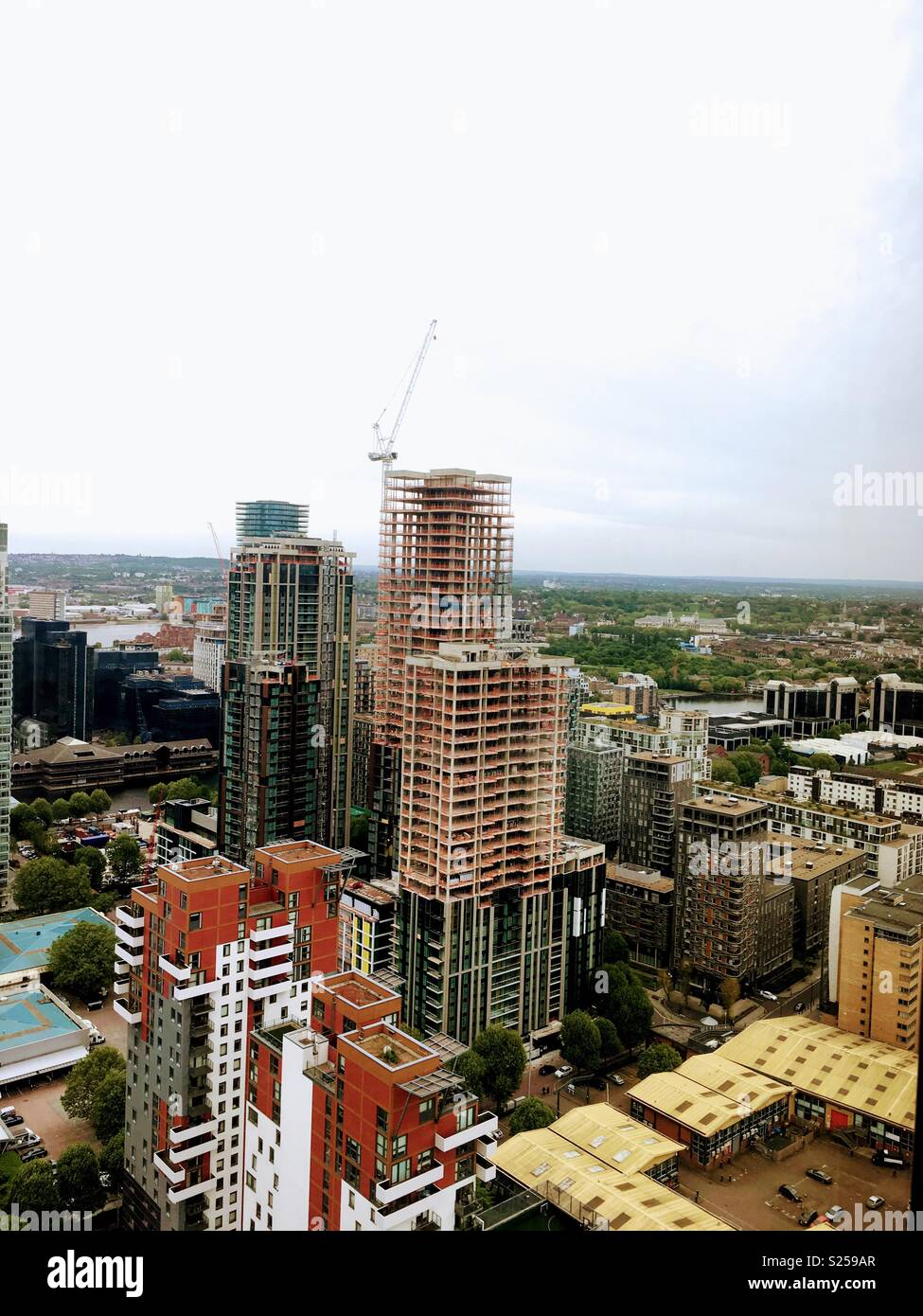 High Riser Building Skyline - Stock Image