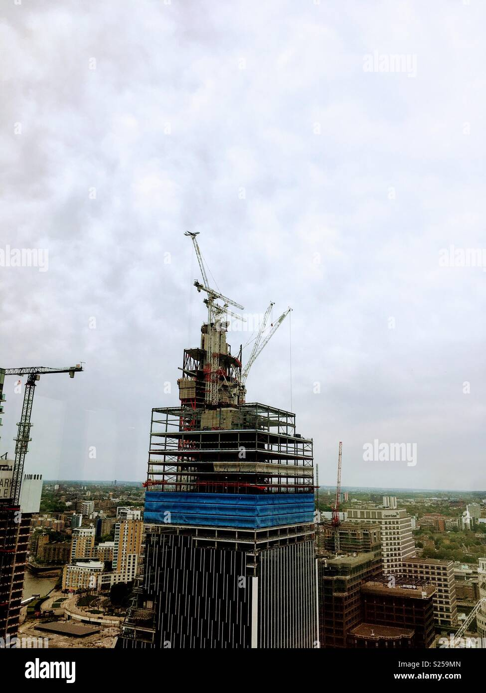Canary Wharf Construction Sight - Stock Image