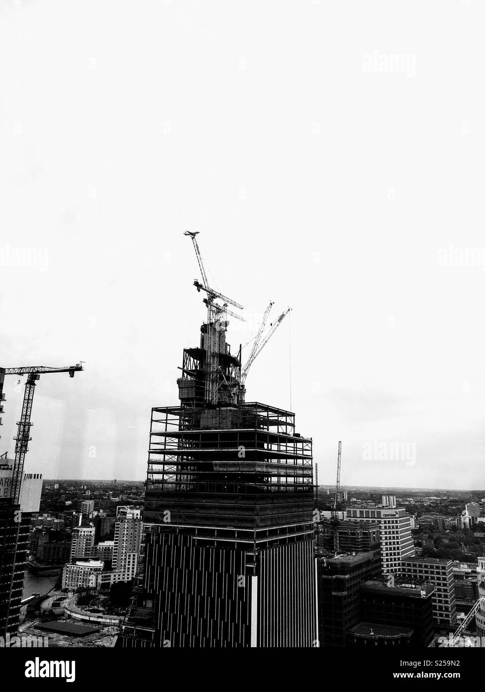 High Riser Building in Progress - Stock Image