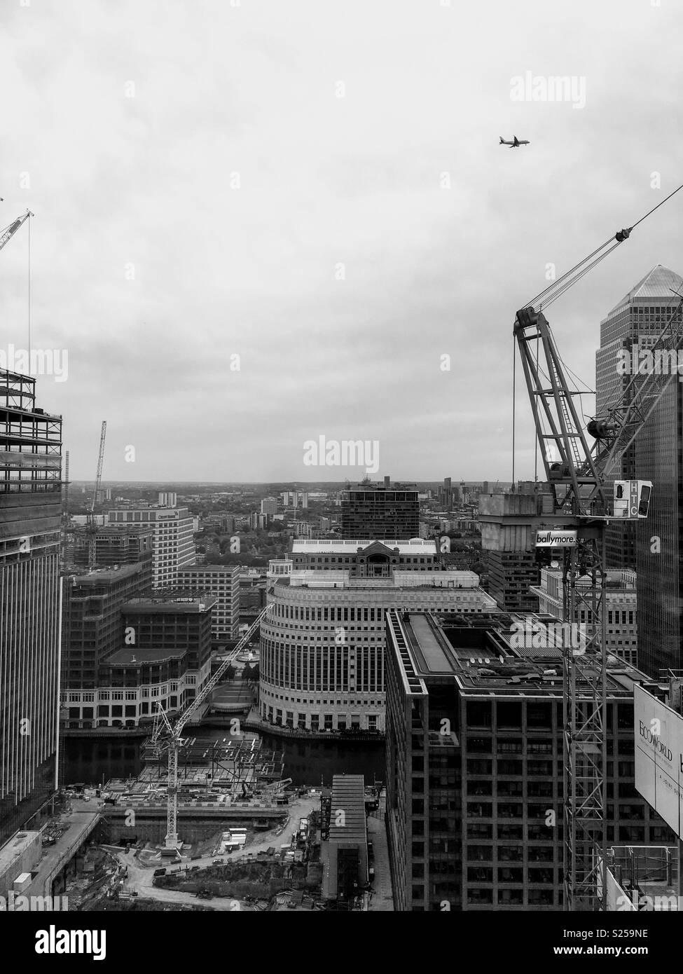Canary Wharf West Skyline - Stock Image