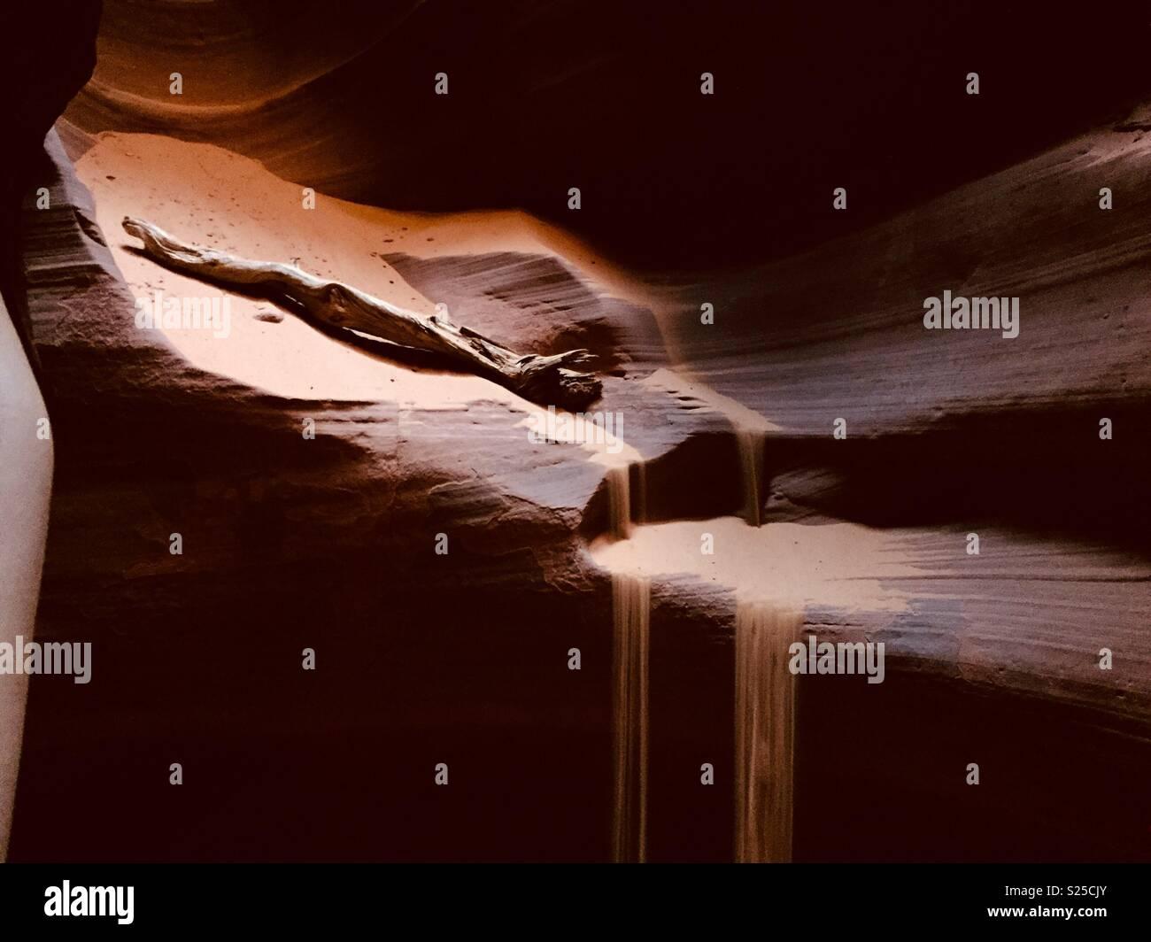 Sand waterfalls - Stock Image