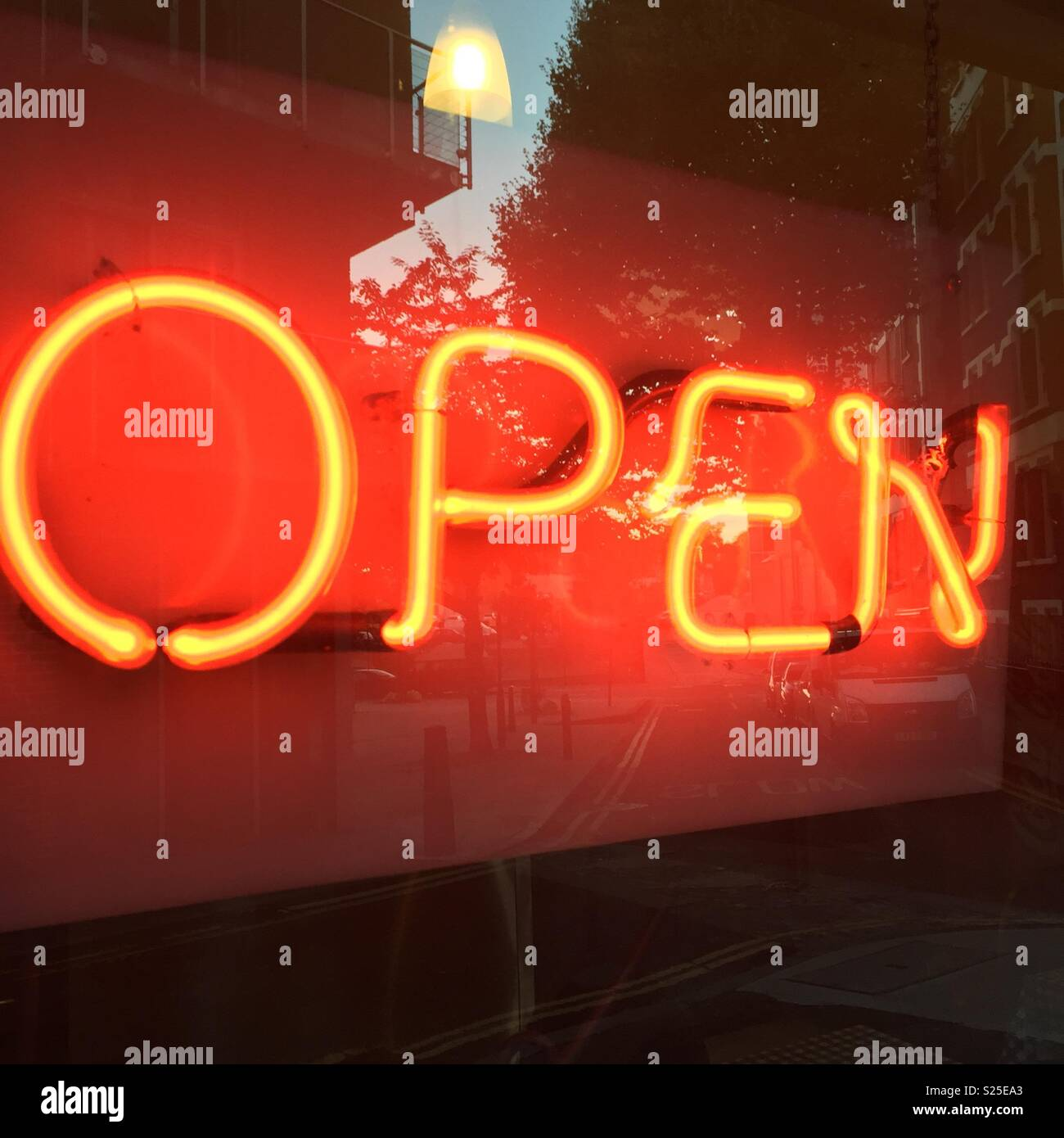 Open for business - Stock Image