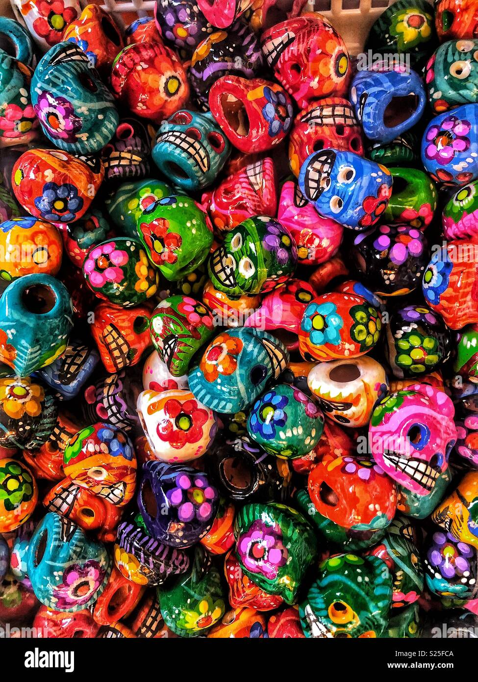 colorful mexican day of the dead skulls stock photo 311137802 alamy