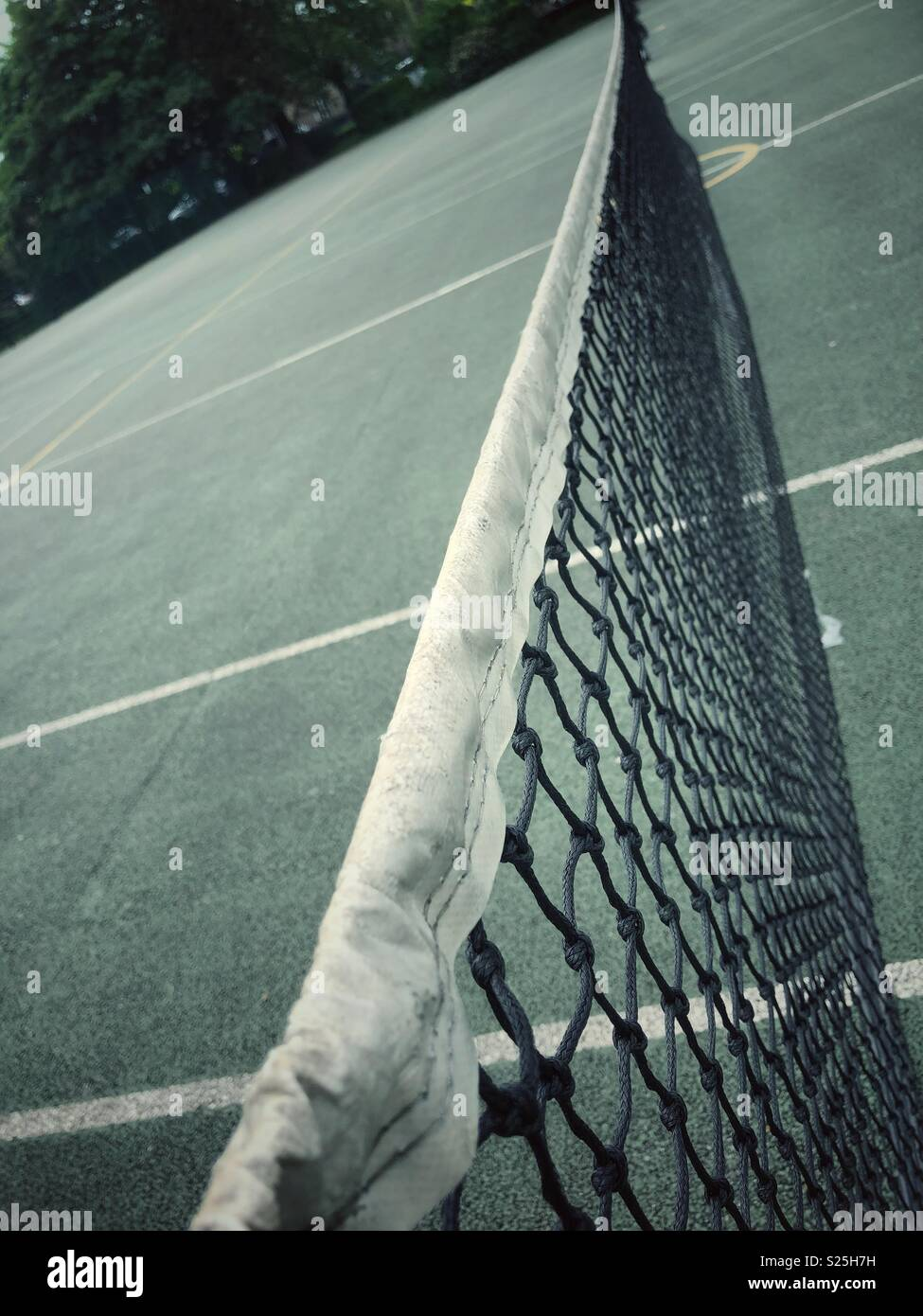 Tennis court at Greenhead Park in Huddersfield, West Yorkshire, United Kingdom - Stock Image