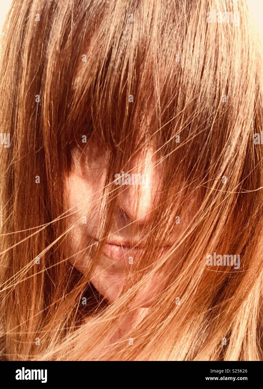 Scottish Woman Red Hair With Highlights Stock Photo 311140654 Alamy