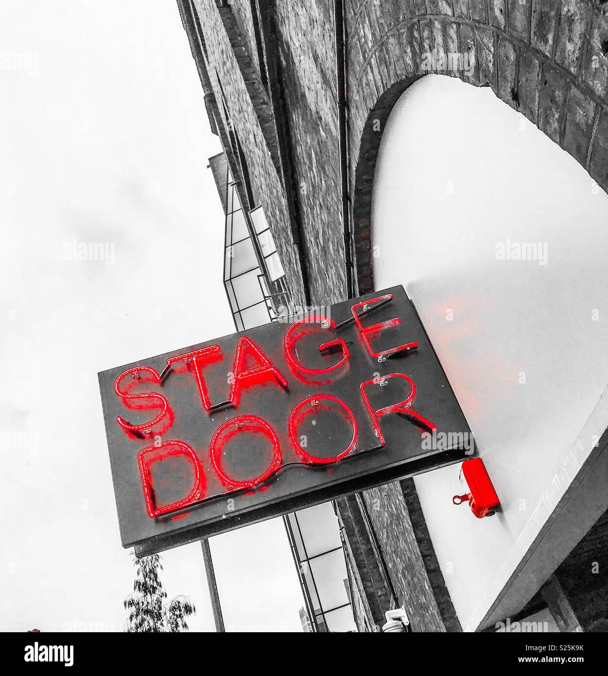 The Old Vic Theatre, London, stage door - Stock Image