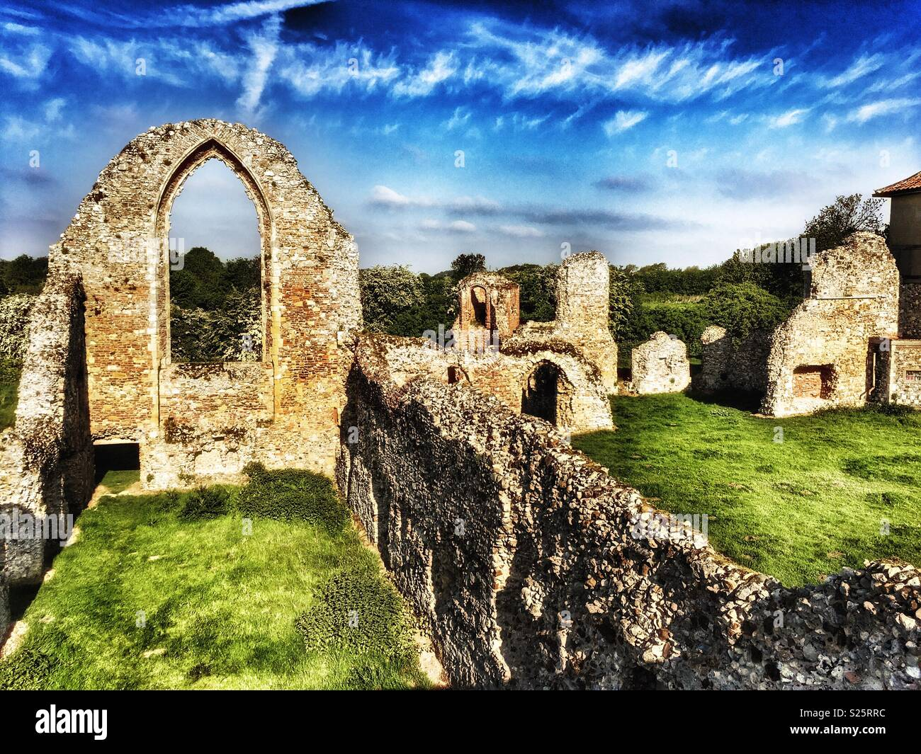 Leiston Abbey Suffolk England - Stock Image