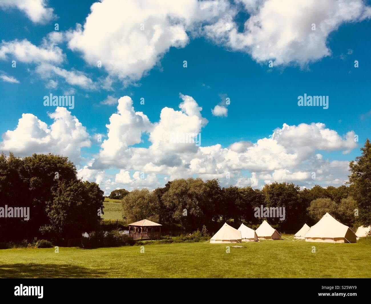 Glamping, Northamptonshire - Stock Image