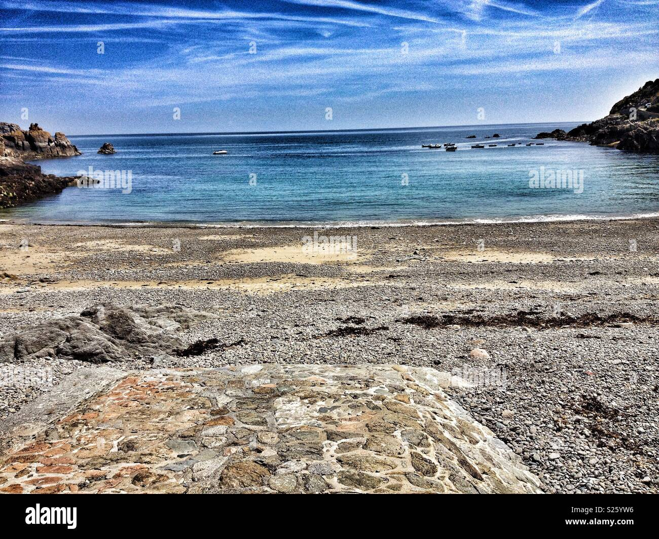Inviting sea, Petit Bot, Guernsey, Channel Islands. - Stock Image