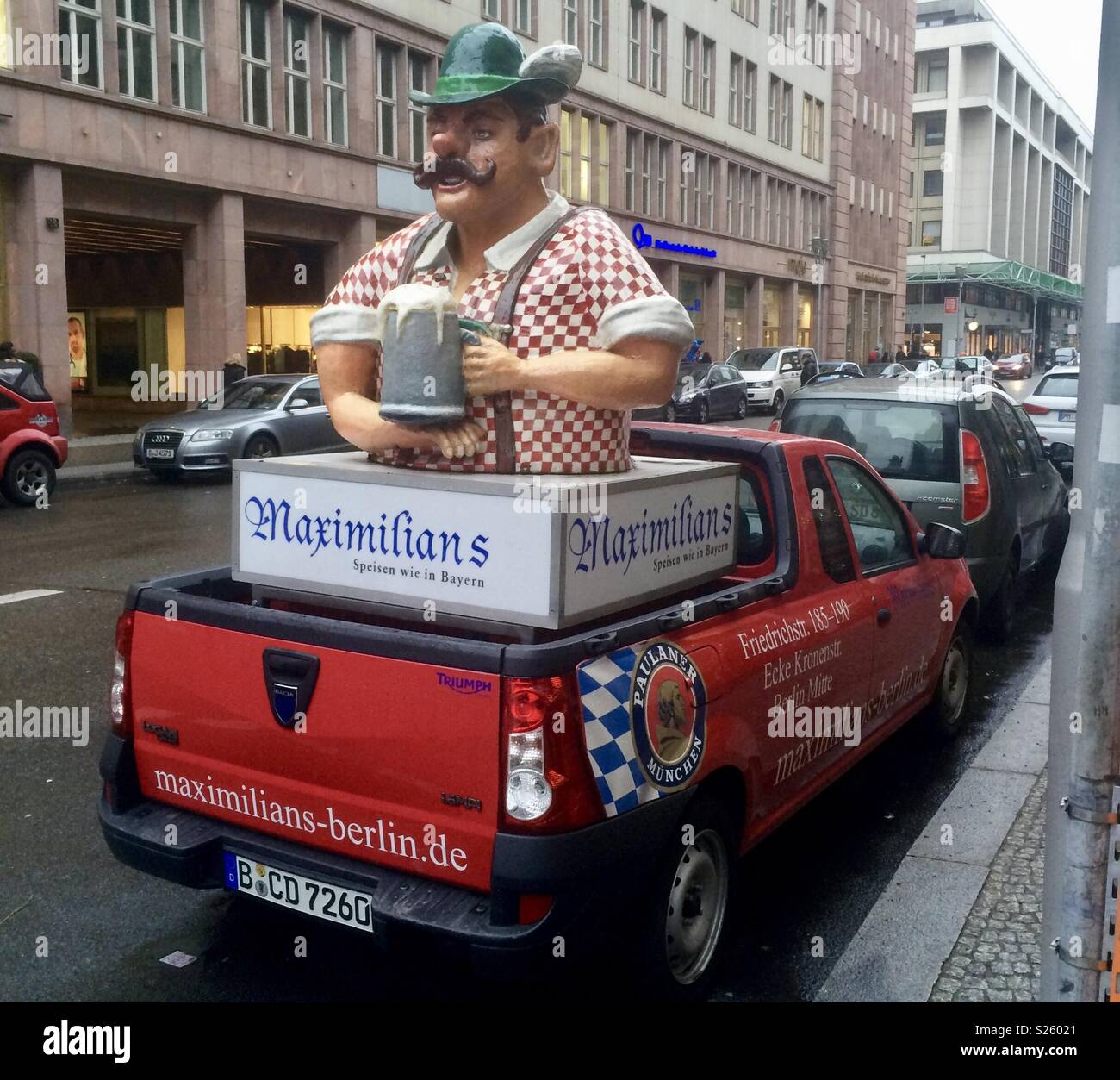 Truck in Berlin - Stock Image