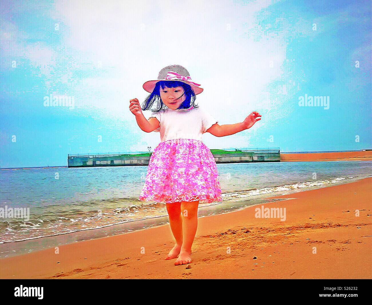 happiness everywhere of an angel - Stock Image