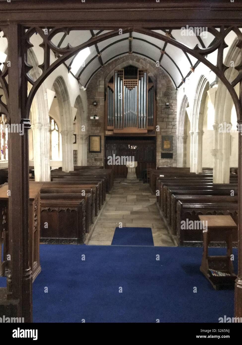 A Devon church of Distinction - Stock Image