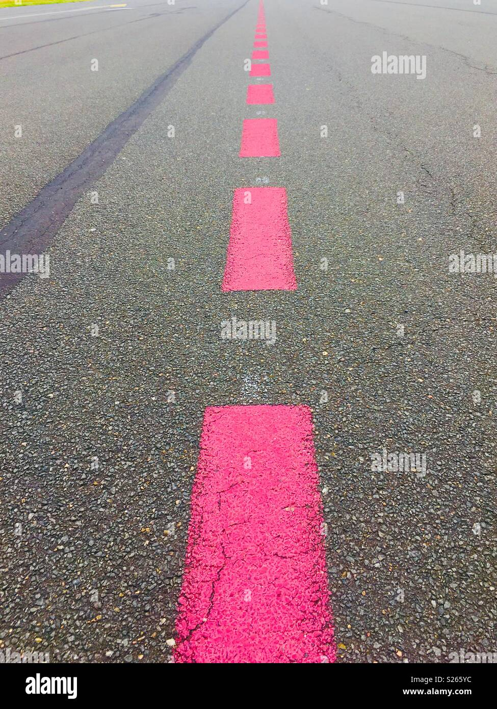 Pink road signage in Berlin Tempelhofer - Stock Image