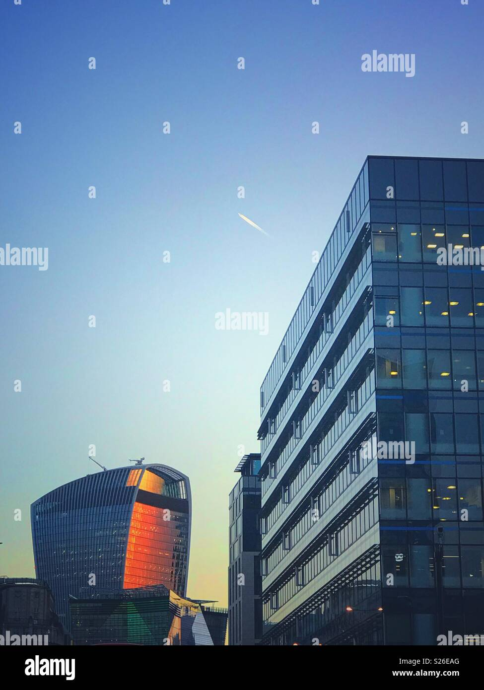 The Walkie Talkie building London - Stock Image