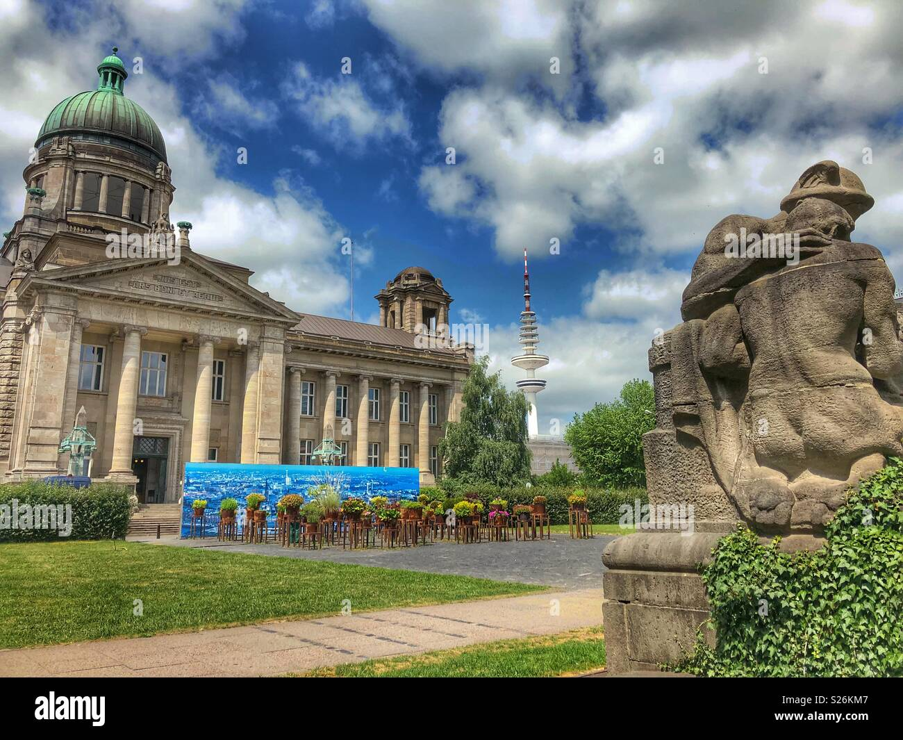 Justice building in Hamburg, northern Germany. - Stock Image
