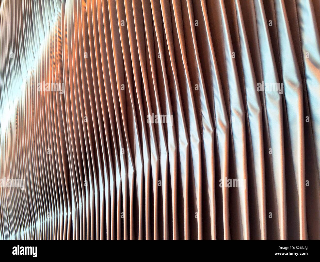 Textured pleated fabric close up - Stock Image