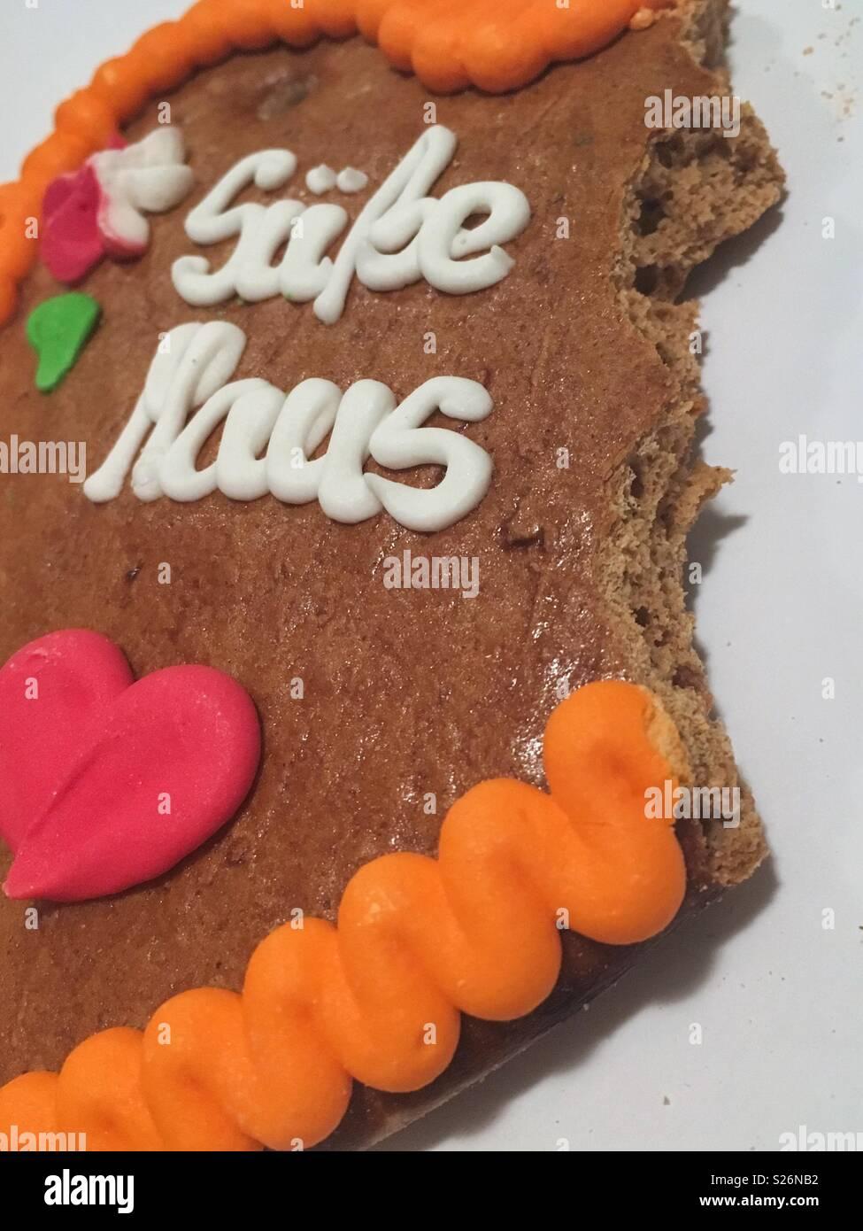 "Lebkuchenherz ""Süße Maus"" - Gingerbread Heart 'Sweet Mouse' - Stock Image"