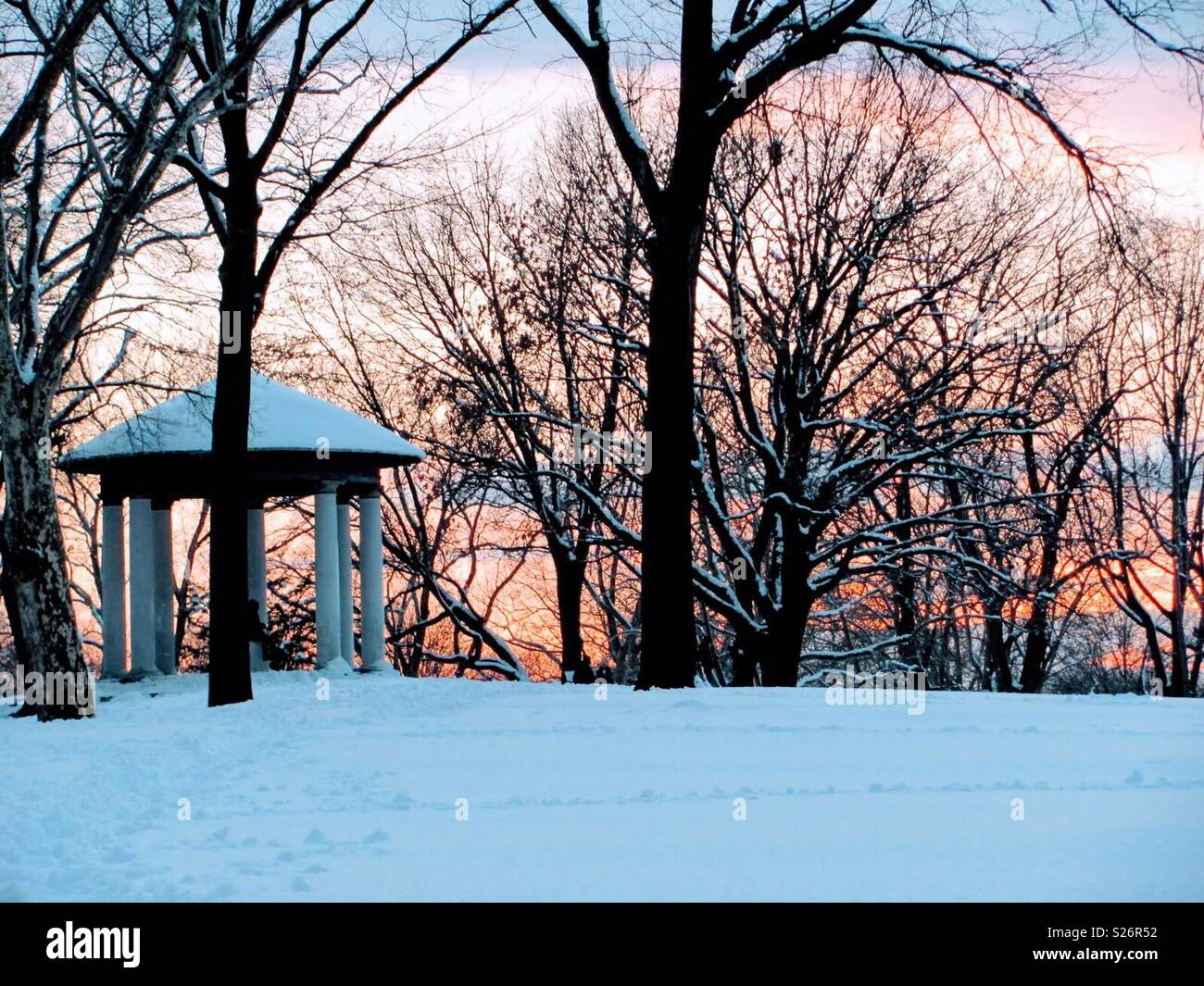 Snow in NewJersey Lincoln Park - Stock Image