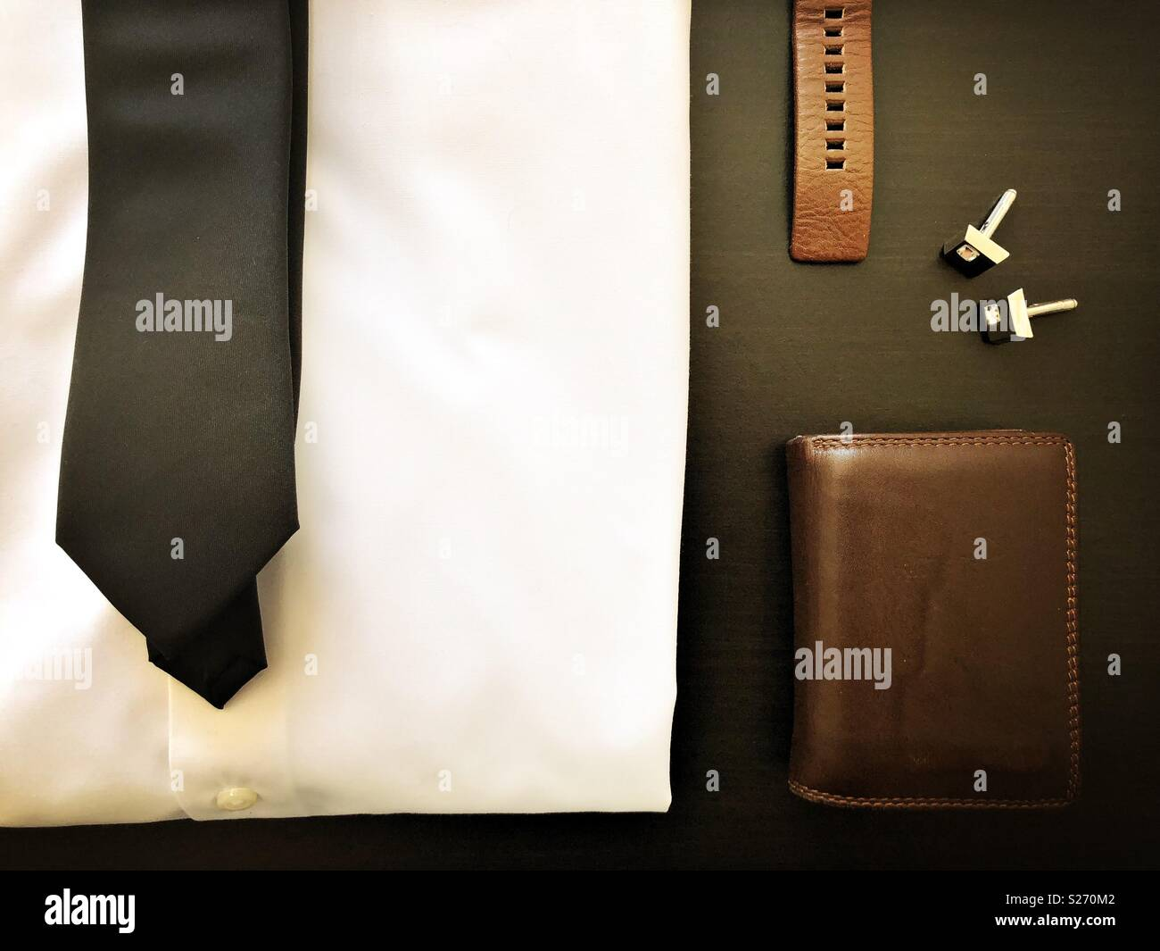 Stylish men's fashion flat lay - Stock Image