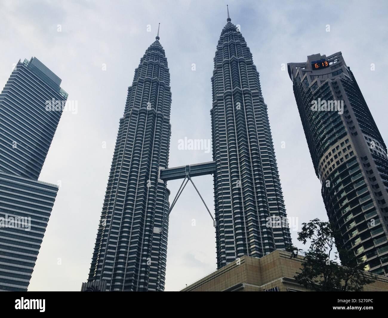 Personas Twin towers Malaysia Stock Photo