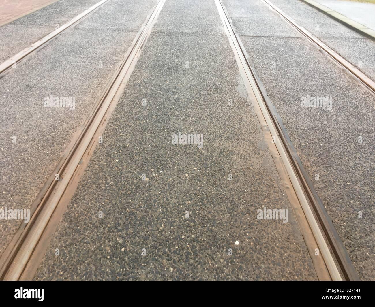 Tramlines Stock Photo