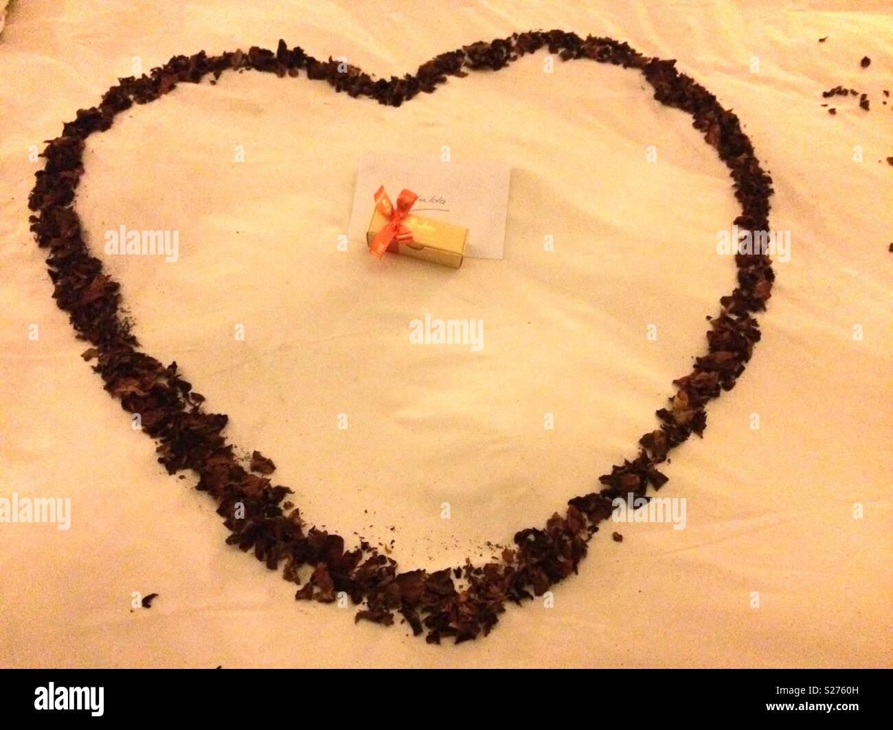 Bedside Heart Decoration And Small Box Of Chocolates Plus Birthday