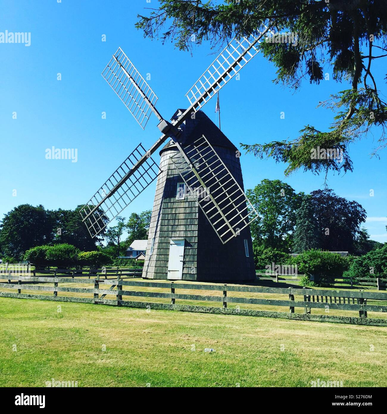 Windmill in the Hamptons - Stock Image