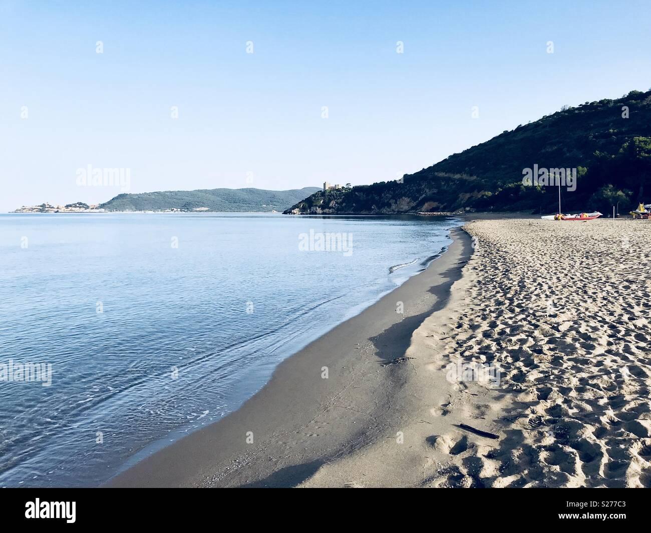 Sea shore Argentario - Stock Image