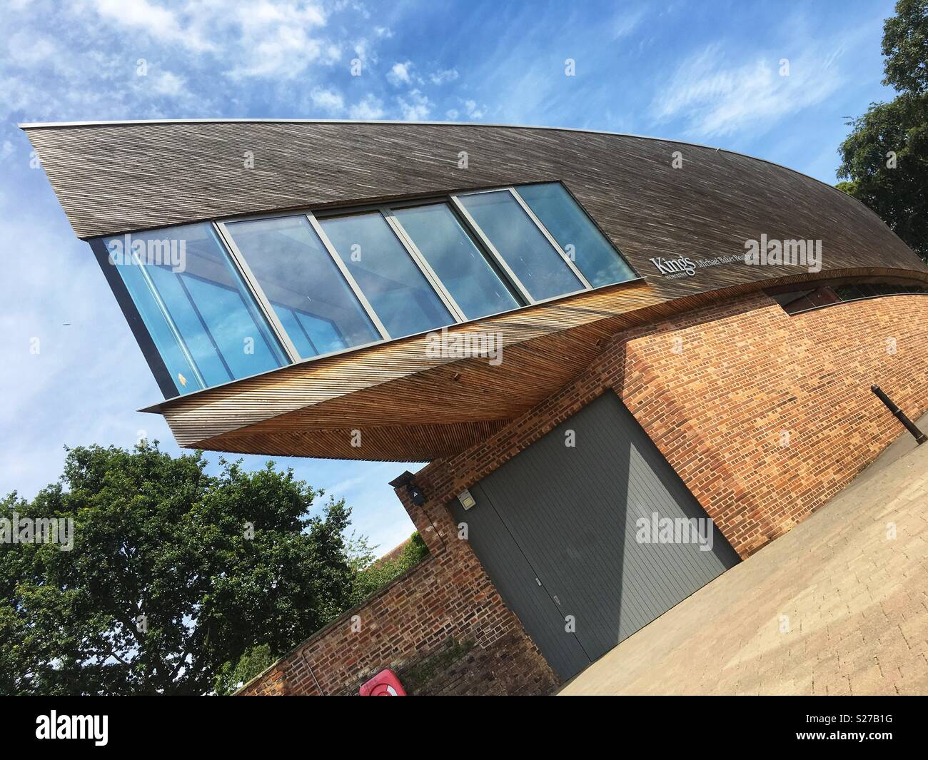 Worcester UK the new King's School boat house completed in 2012 - Stock Image