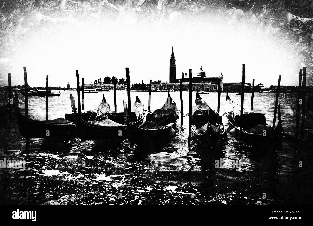 Gondolas in Venice - Stock Image