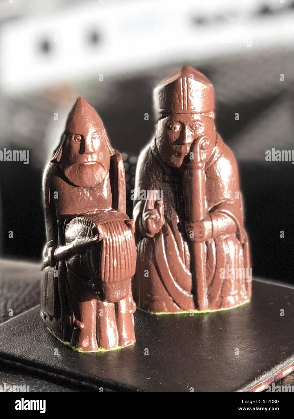 Lewis Chessmen Knight and Bishop - Stock Image