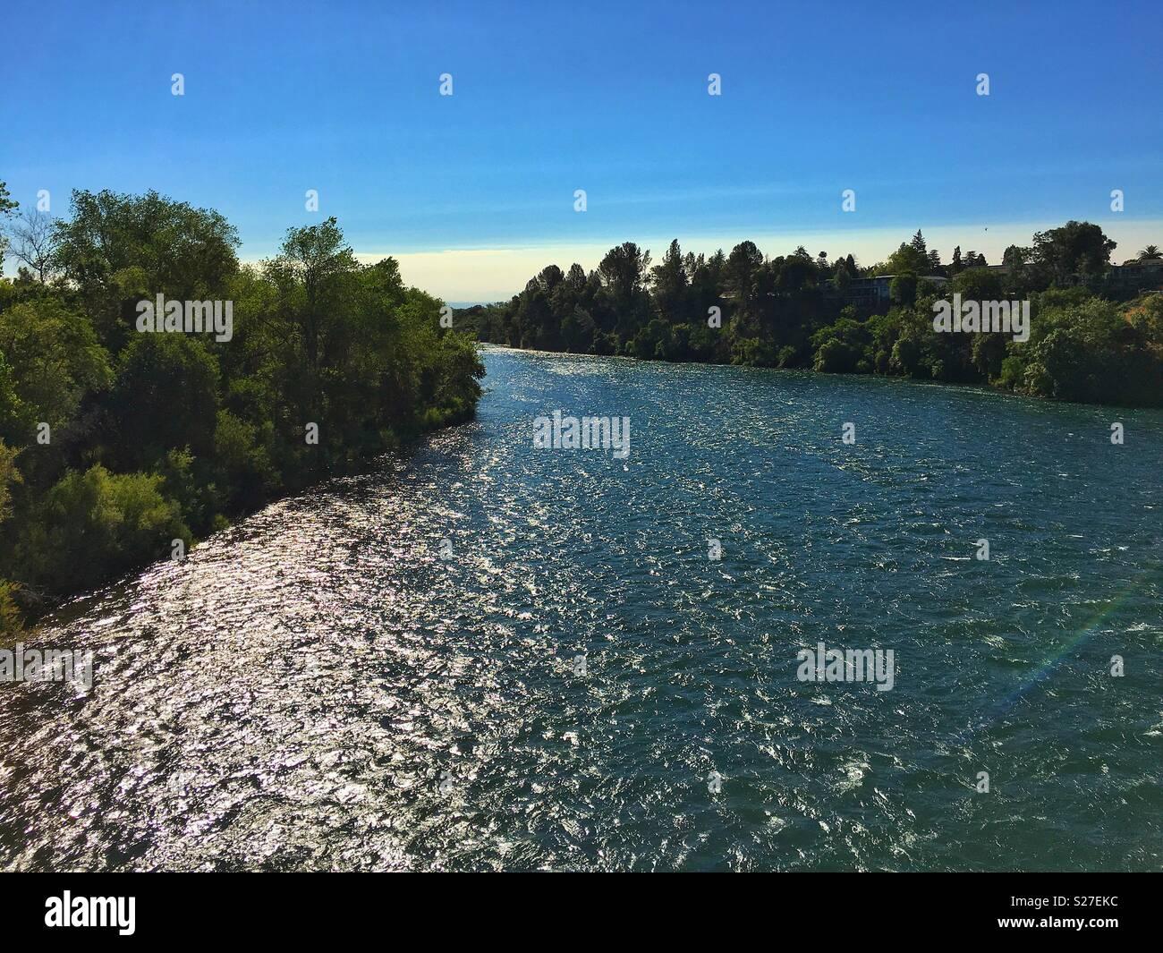 Sacramento River in Redding California - Stock Image