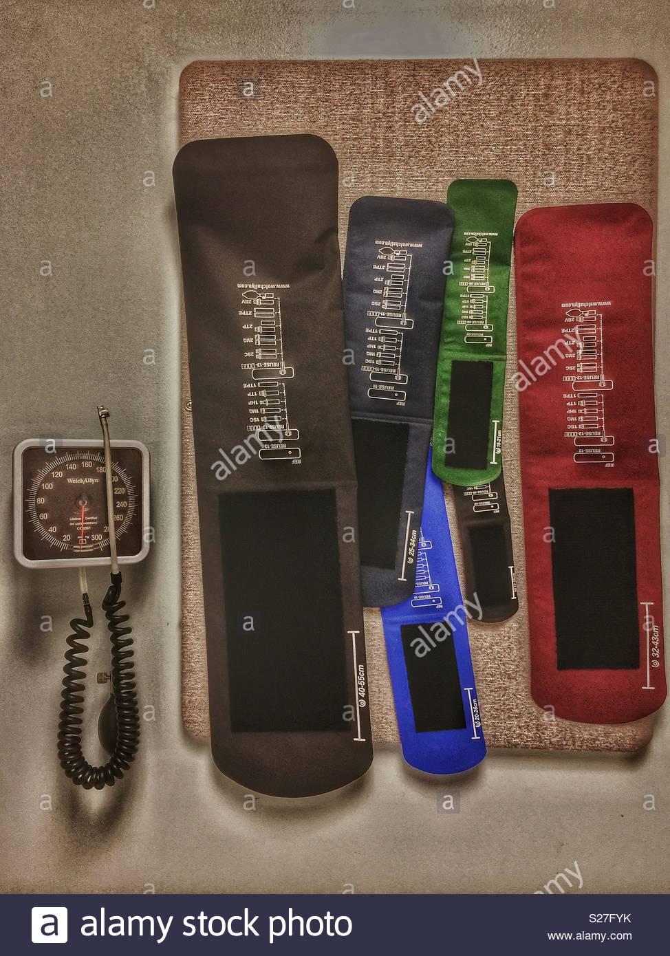 Pediatric blood pressure equipment - Stock Image